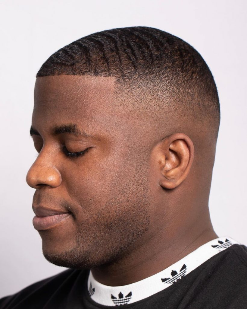 Short waves haircut for black men