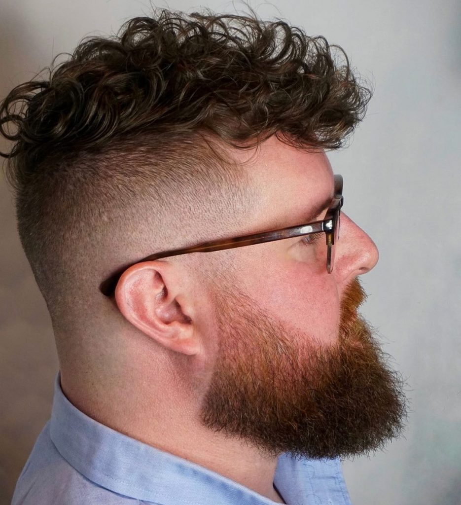 Curly hair undercut for men