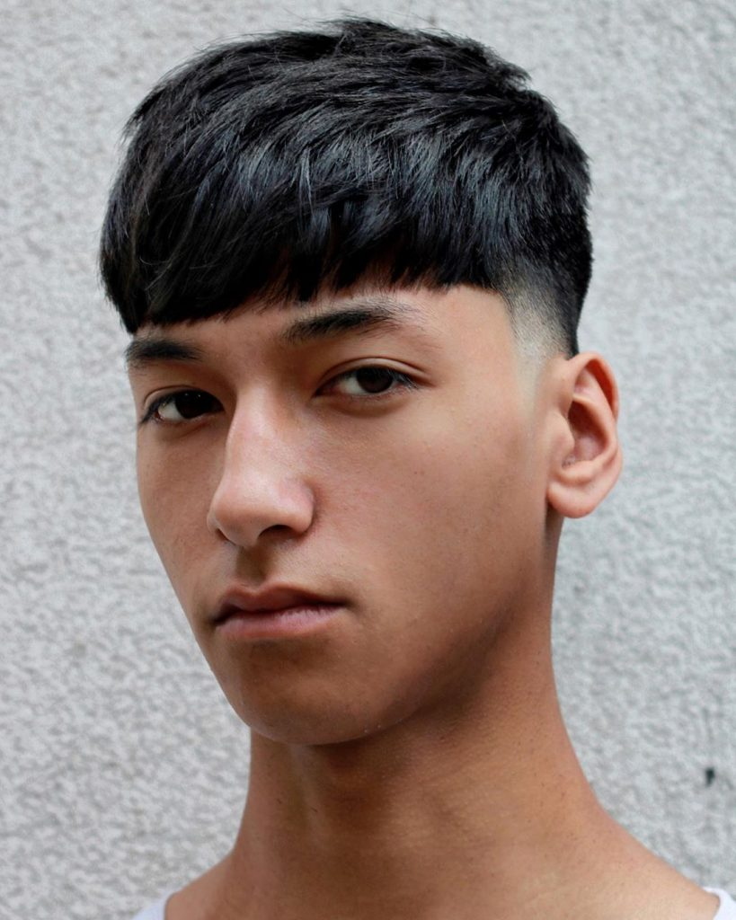 Fringe haircuts for men with thick hair