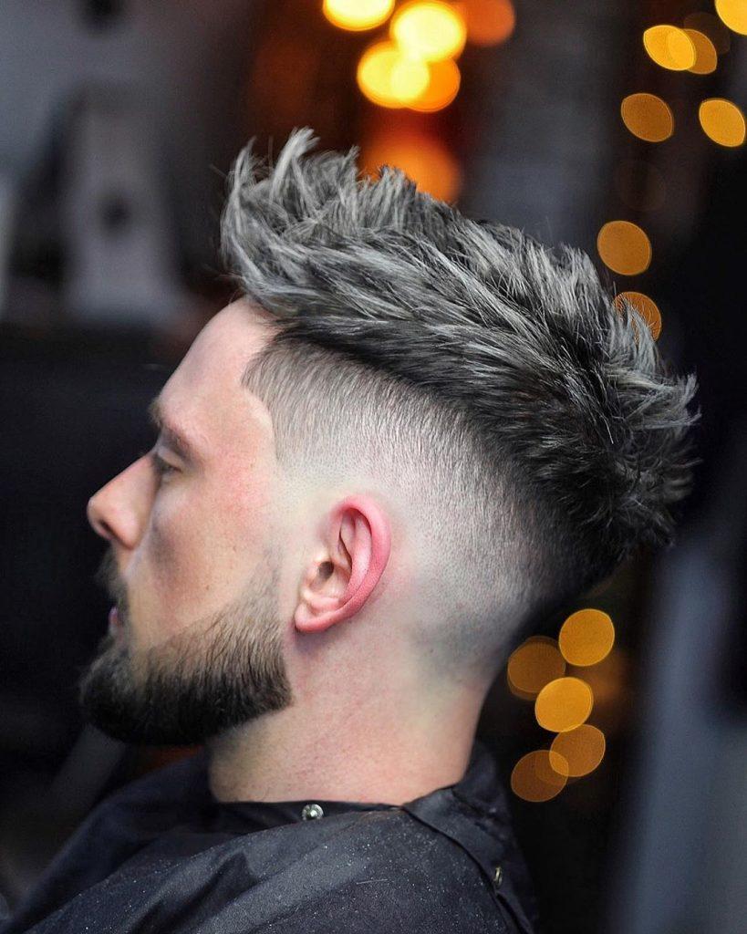 Spiky crop haircut