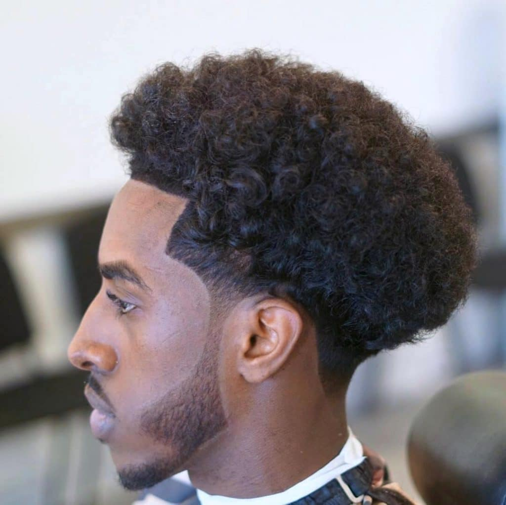 Modern curly afro for men