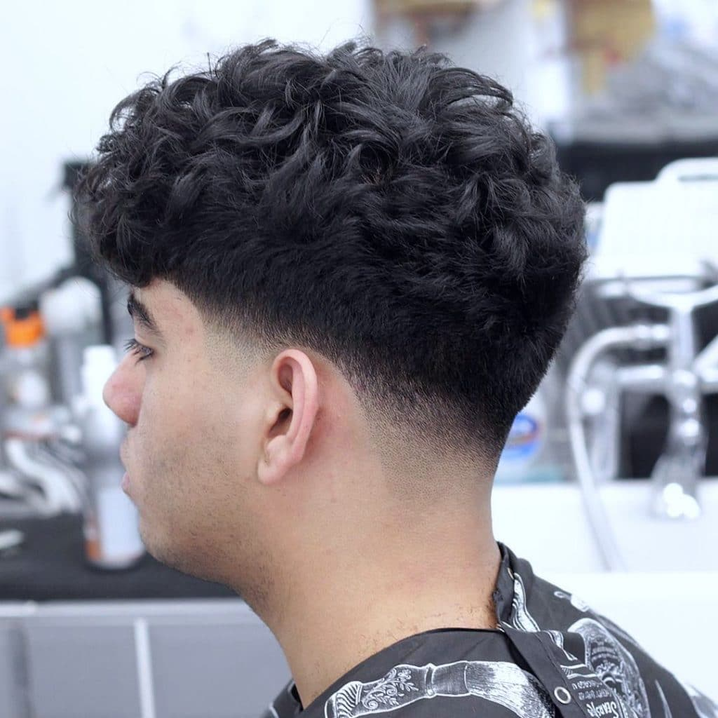 Taper haircut curly hair