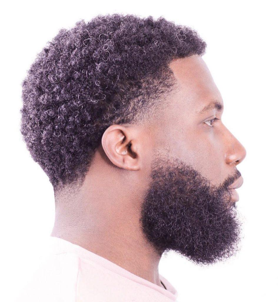 Taper haircut for black men