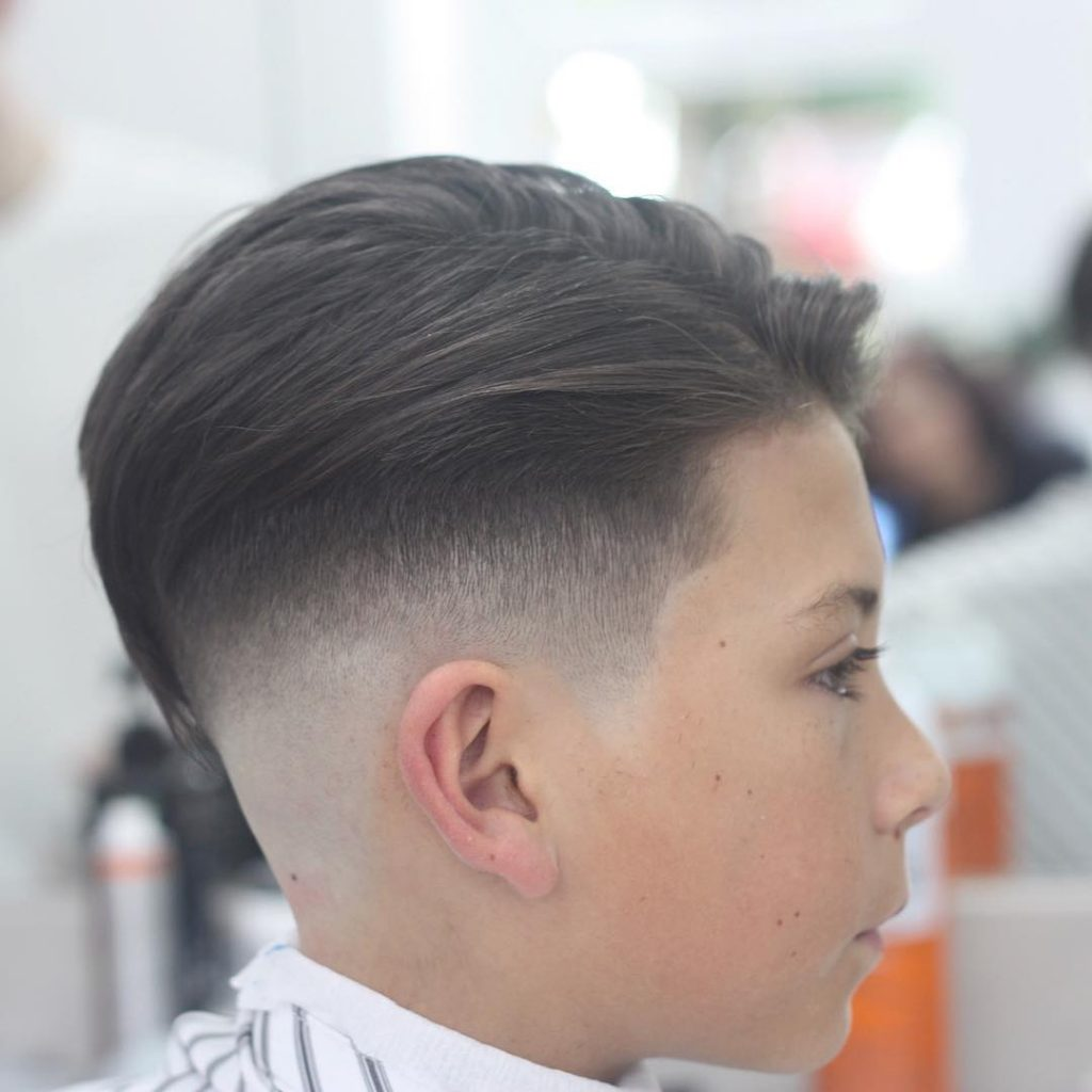 Undercut for boys high fade side view