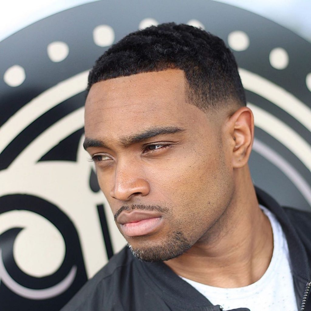 Line up with fade haircut