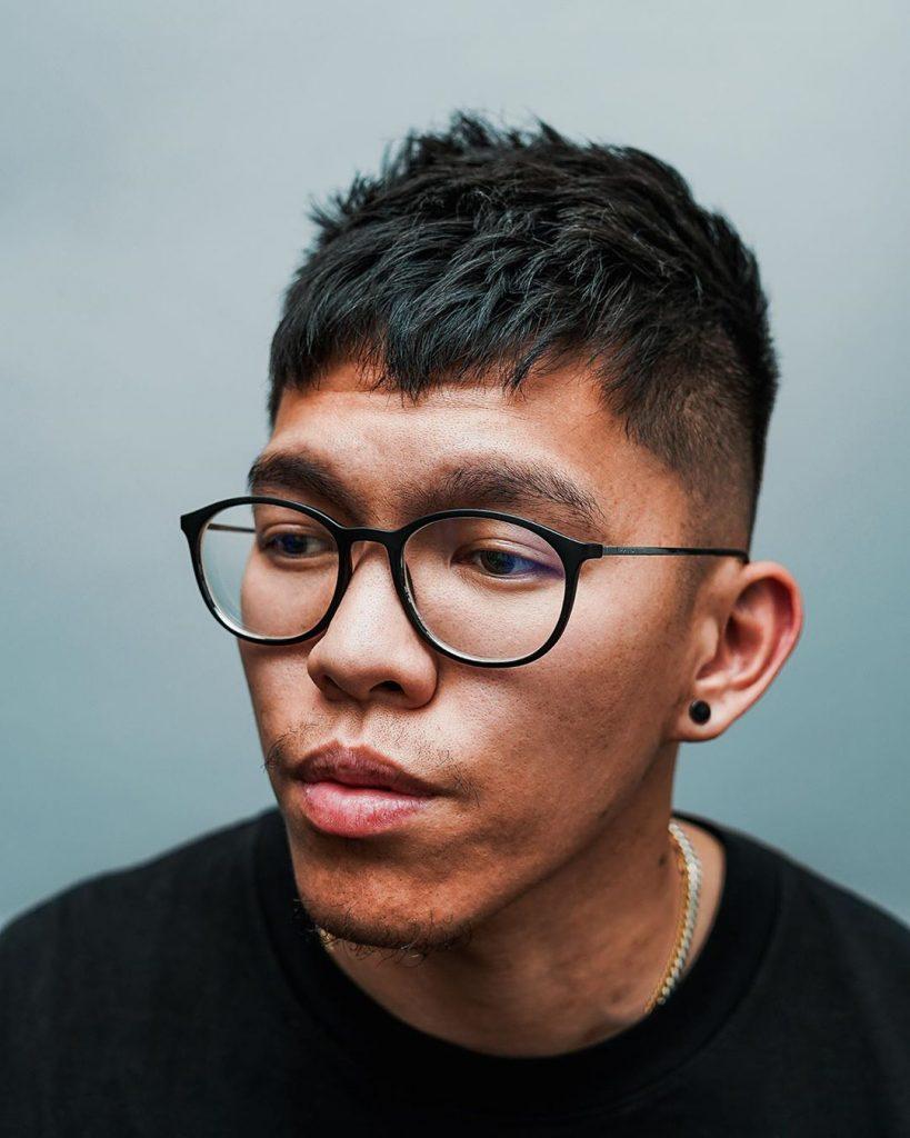 Asian men fade short hairstyles
