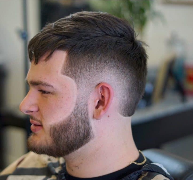 Bald burst fade hair cut