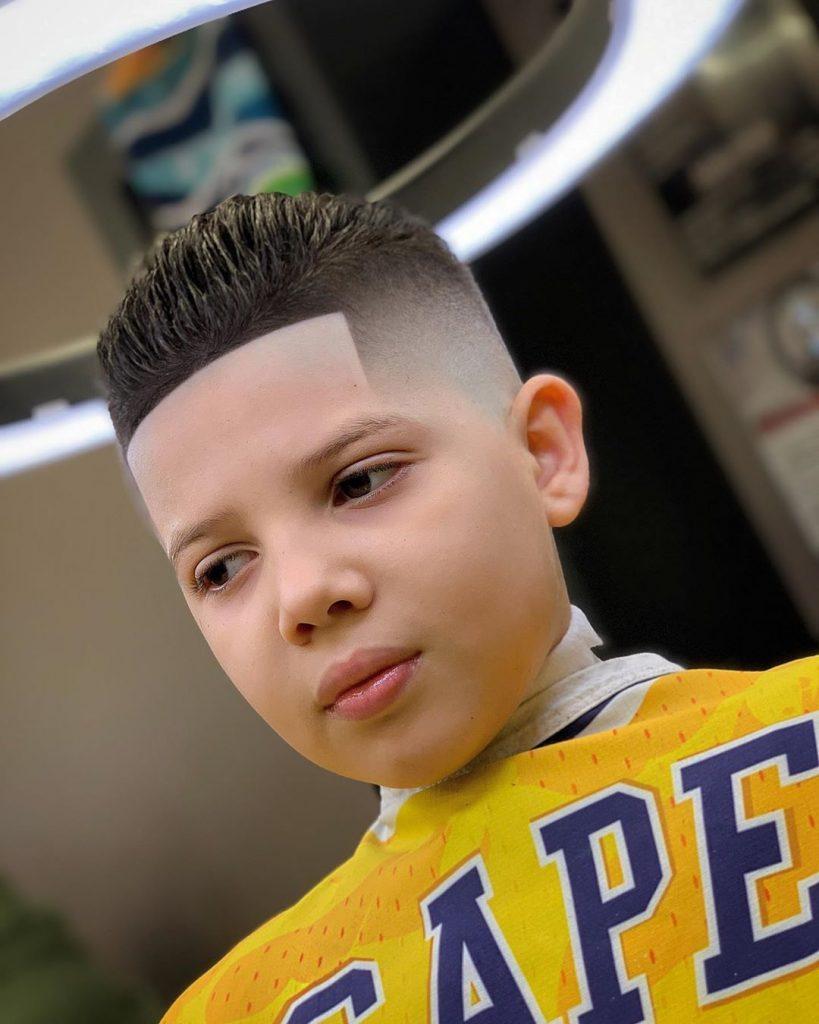 Boys bald fade haircut