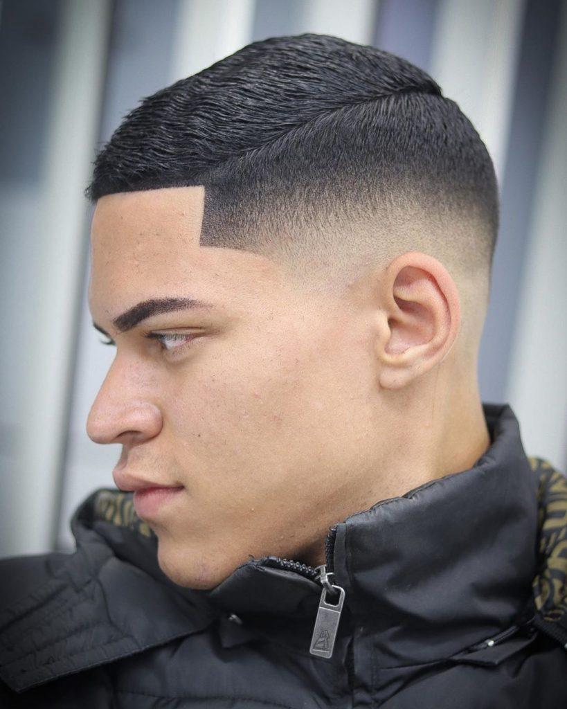 Short comb over fade