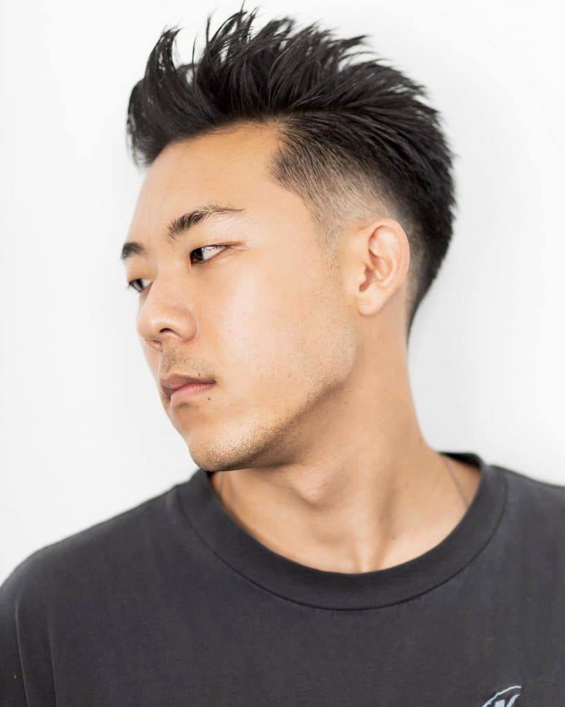 Asian hairstyles short fade men