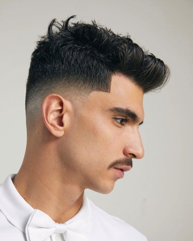 Short fade hairstyle