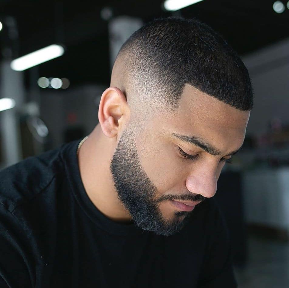 Buzz cut with skin fade