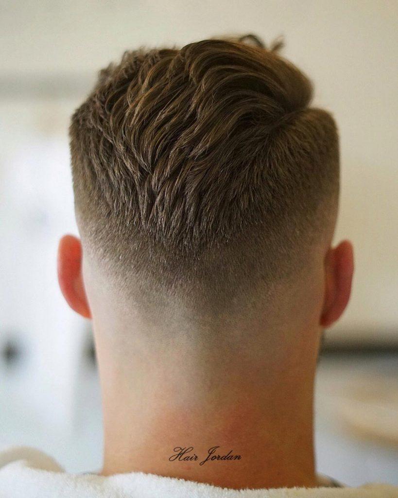 Short side part haircut for men