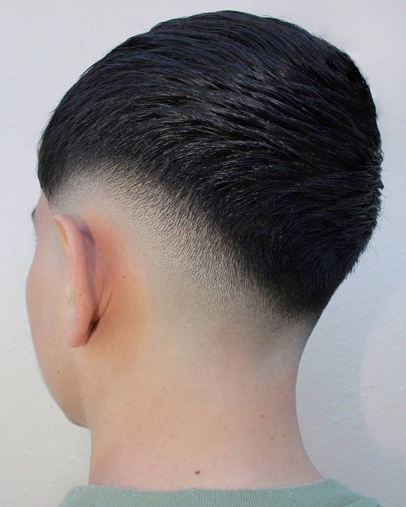 Short skin fade hairstyles for Asian hair