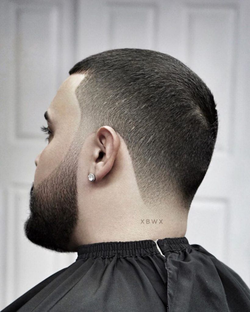 Buzz cut with taper fade