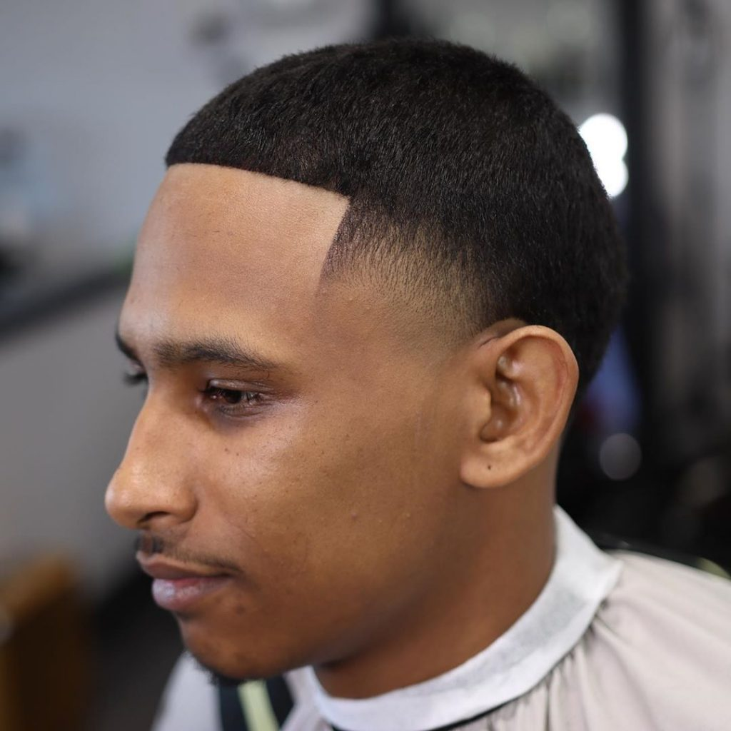 High temple fade haircut