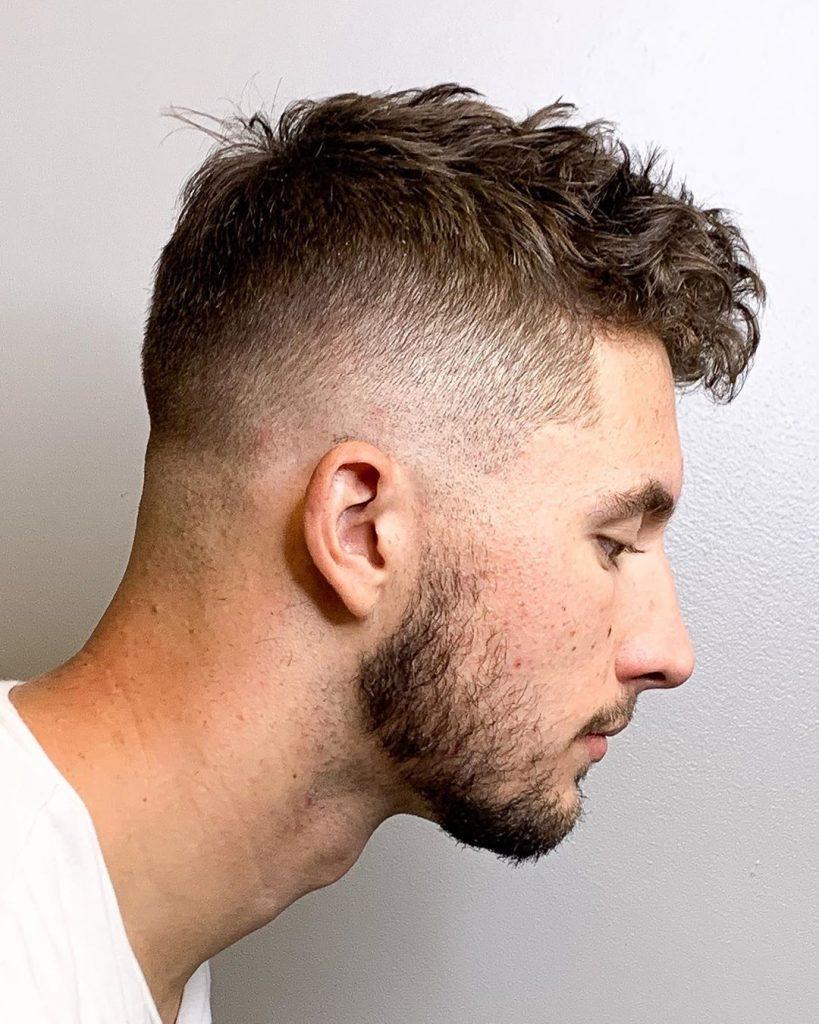High drop fade haircut