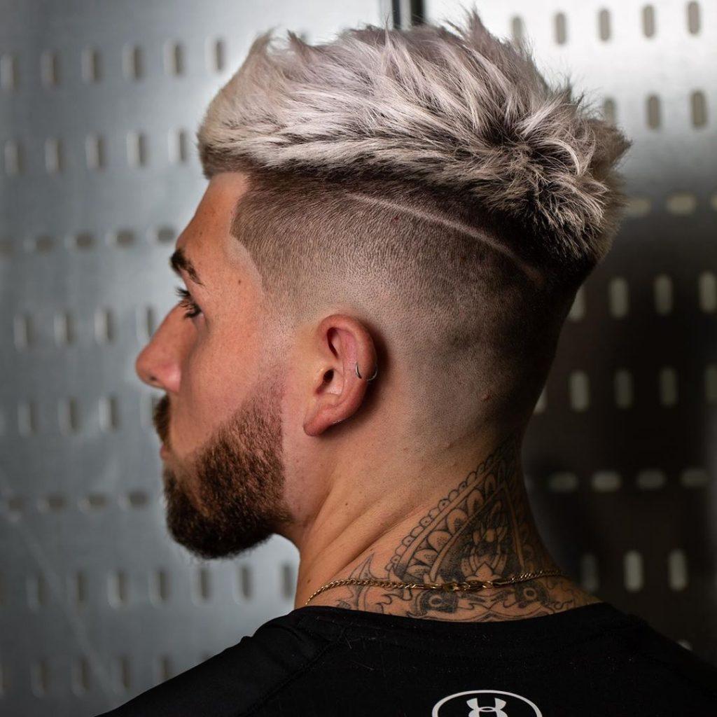 High fade crop haircut