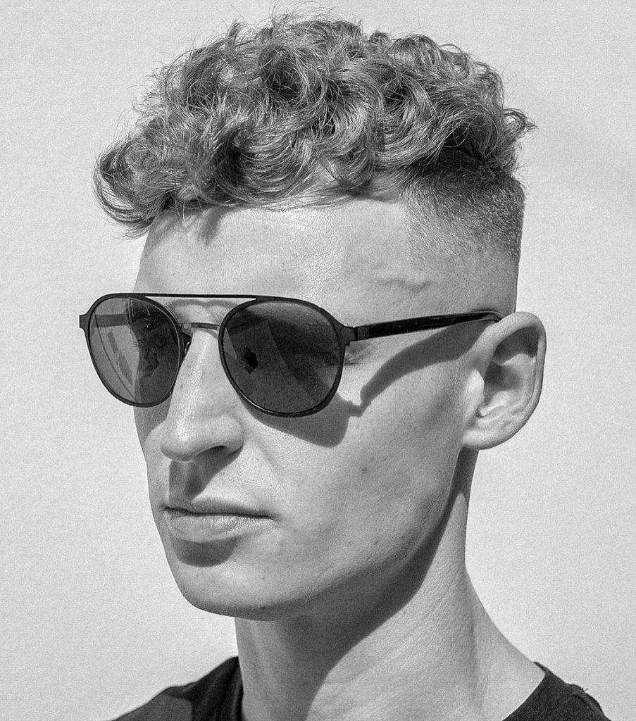 High fade for curly hair