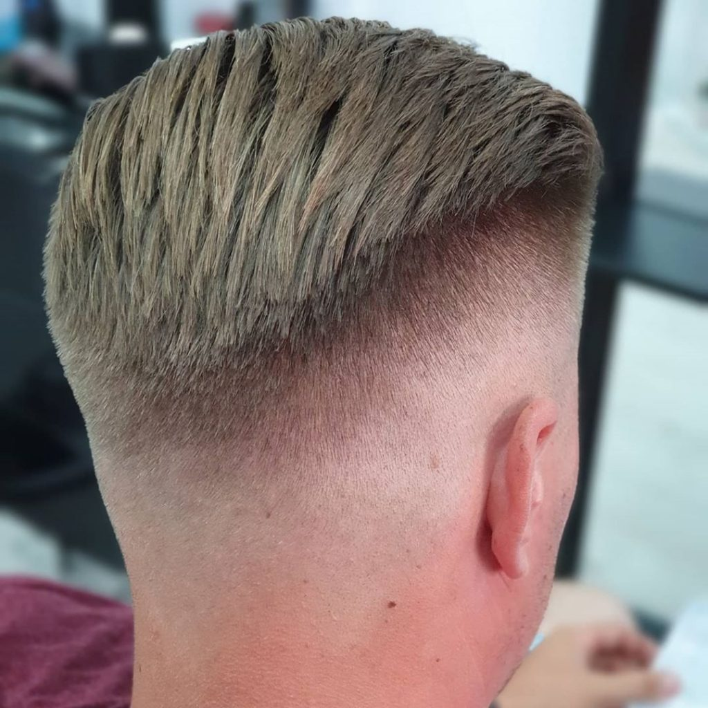 High-low fade haircut
