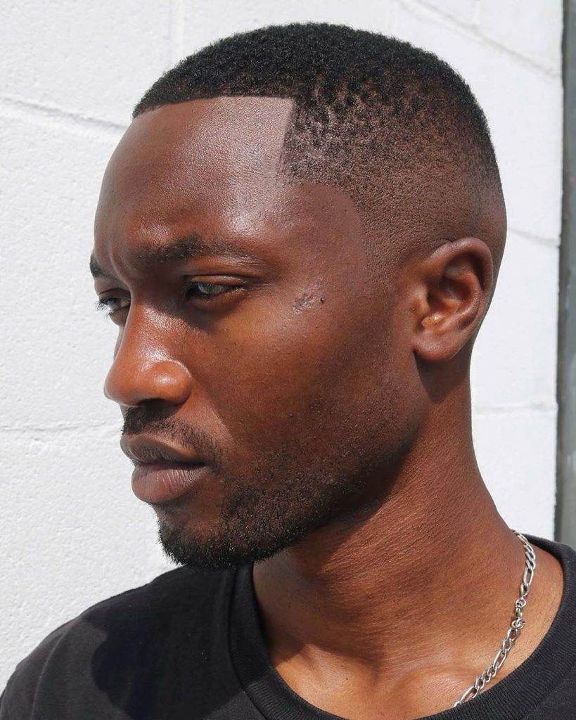 High skin fade haircut for black men