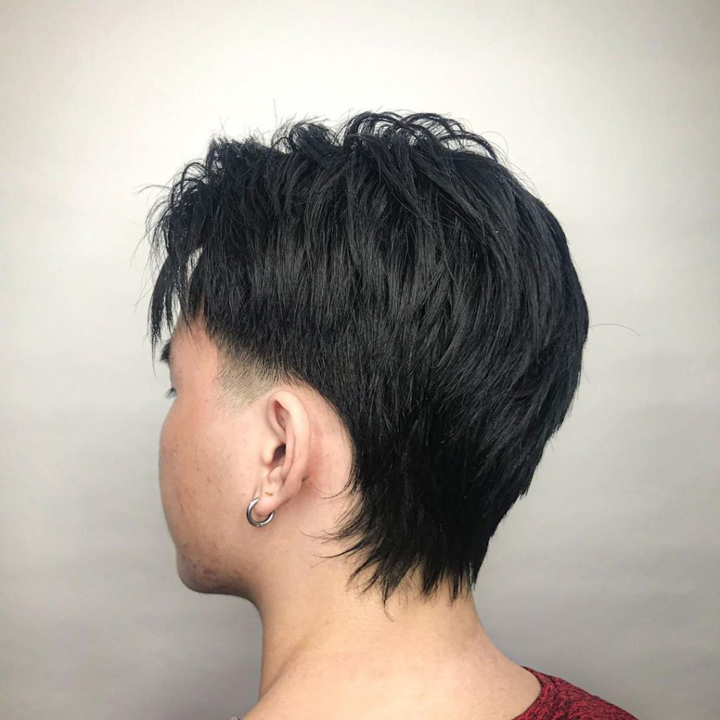 Temple fade haircut for Asian men