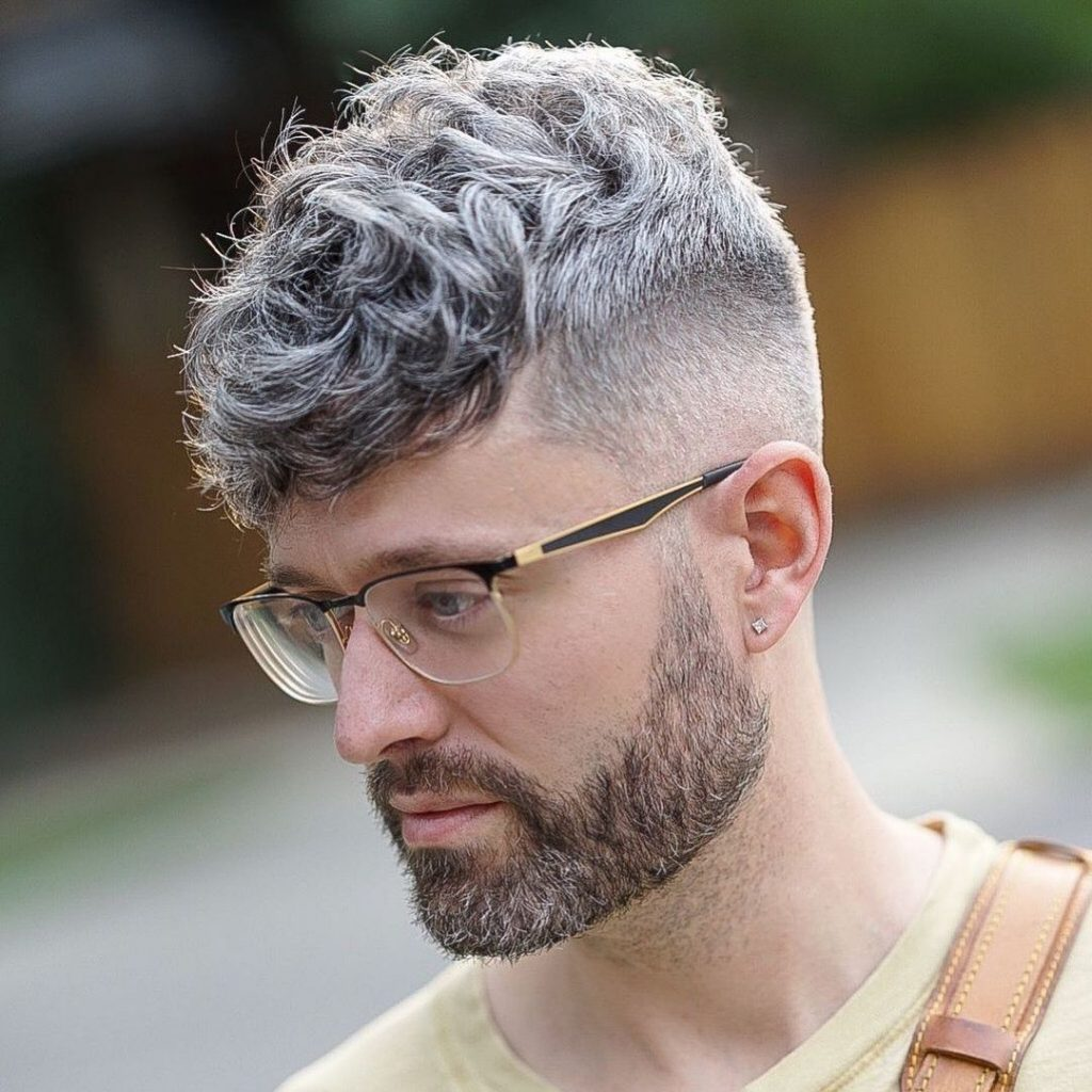 Cool crop haircut for curly hair