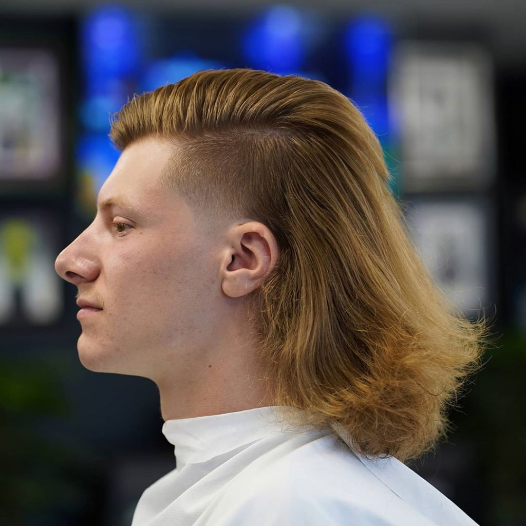 Long hair mullet temp fade