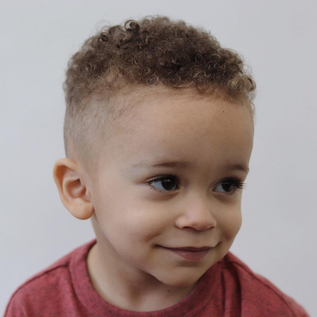 Mixed toddler boy haircuts