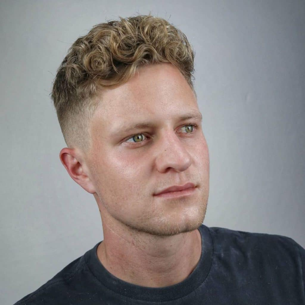 Professional hairstyles for men with curly hair