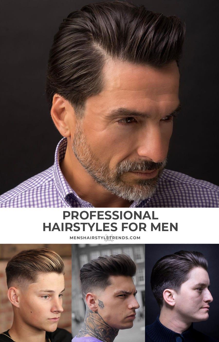 Professional Hairstyles For Men - Medium Length