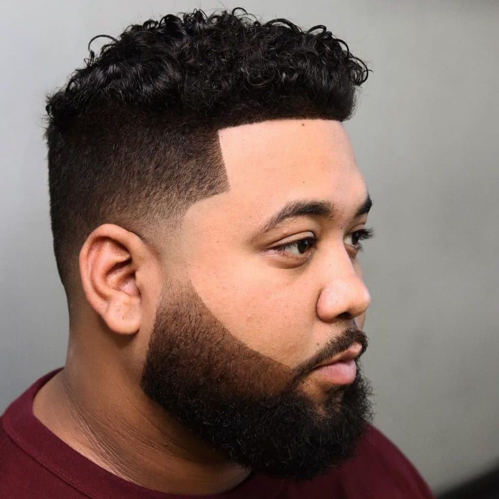 Short fade haircut for curly hair men