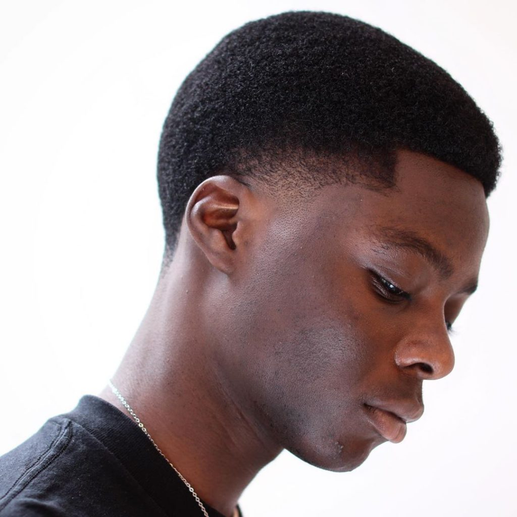 Temp fade haircut Black