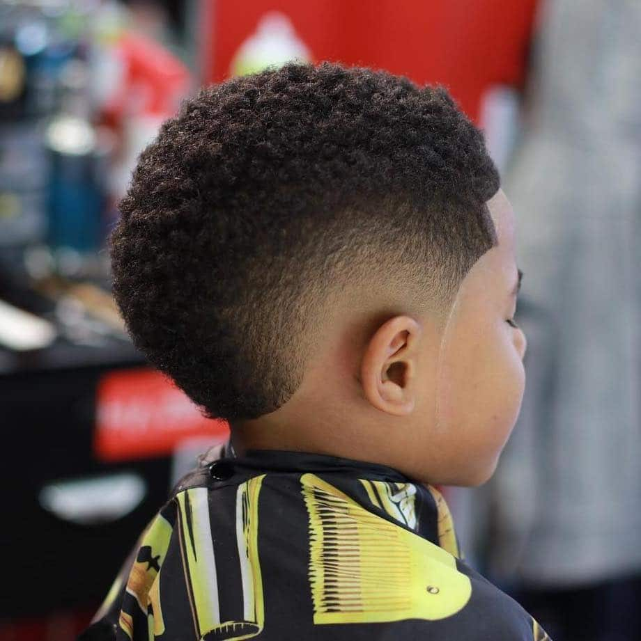 Toddler boy haircut Black
