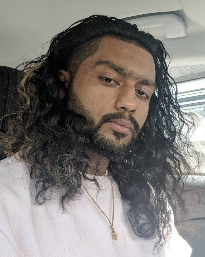 Curly undercut for men