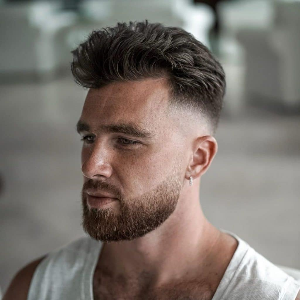 Beard skin fade haircut