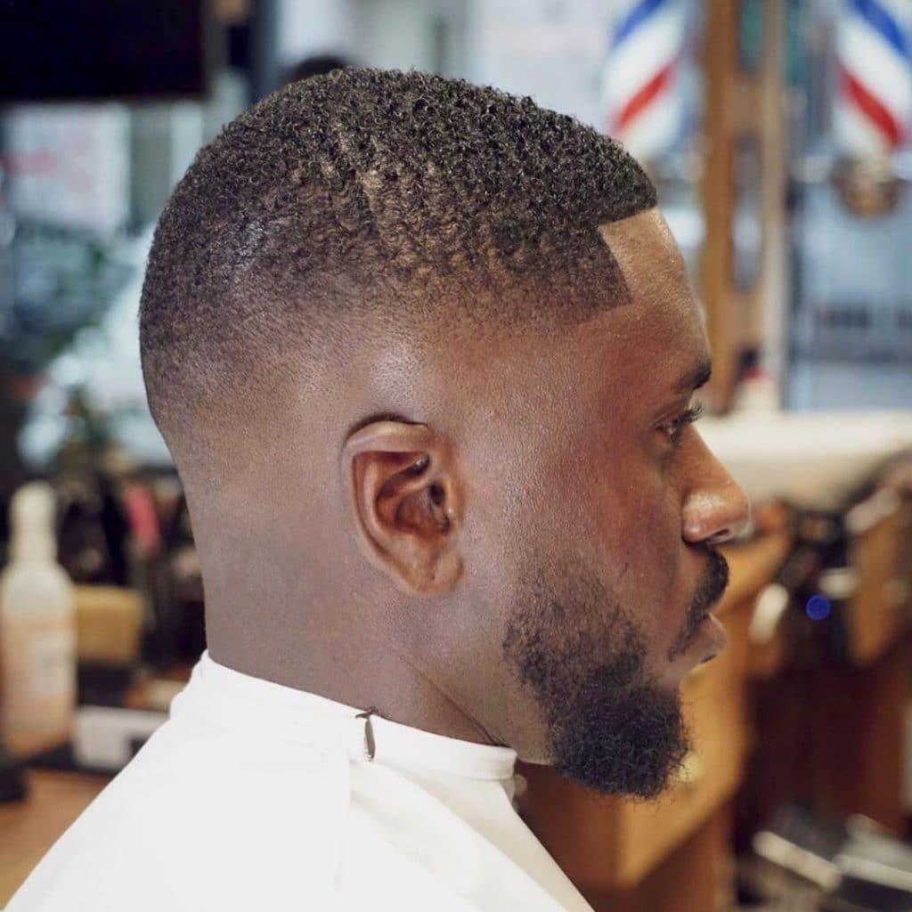 Mid fade haircuts for short hair Black men
