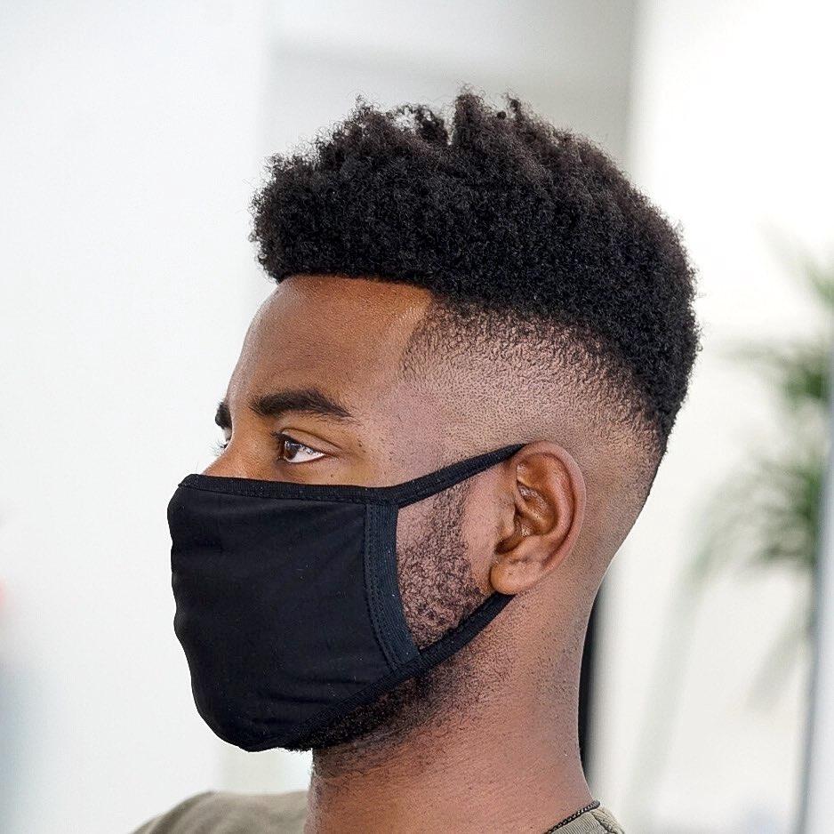 High skin fade haircut Black man