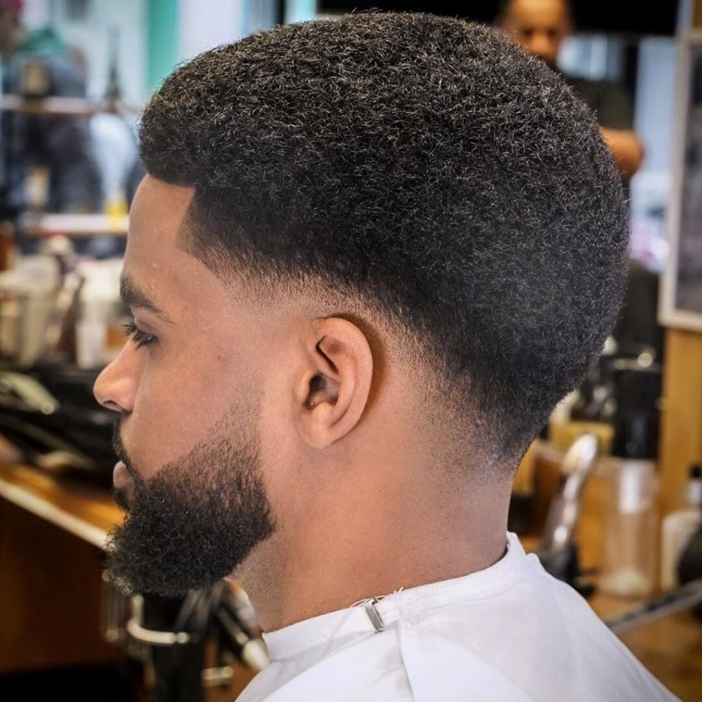 Low fade afro haircut