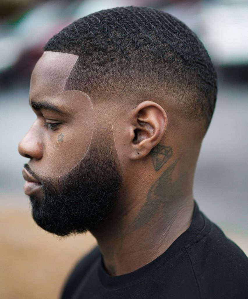 Low skin fade haircut Black men