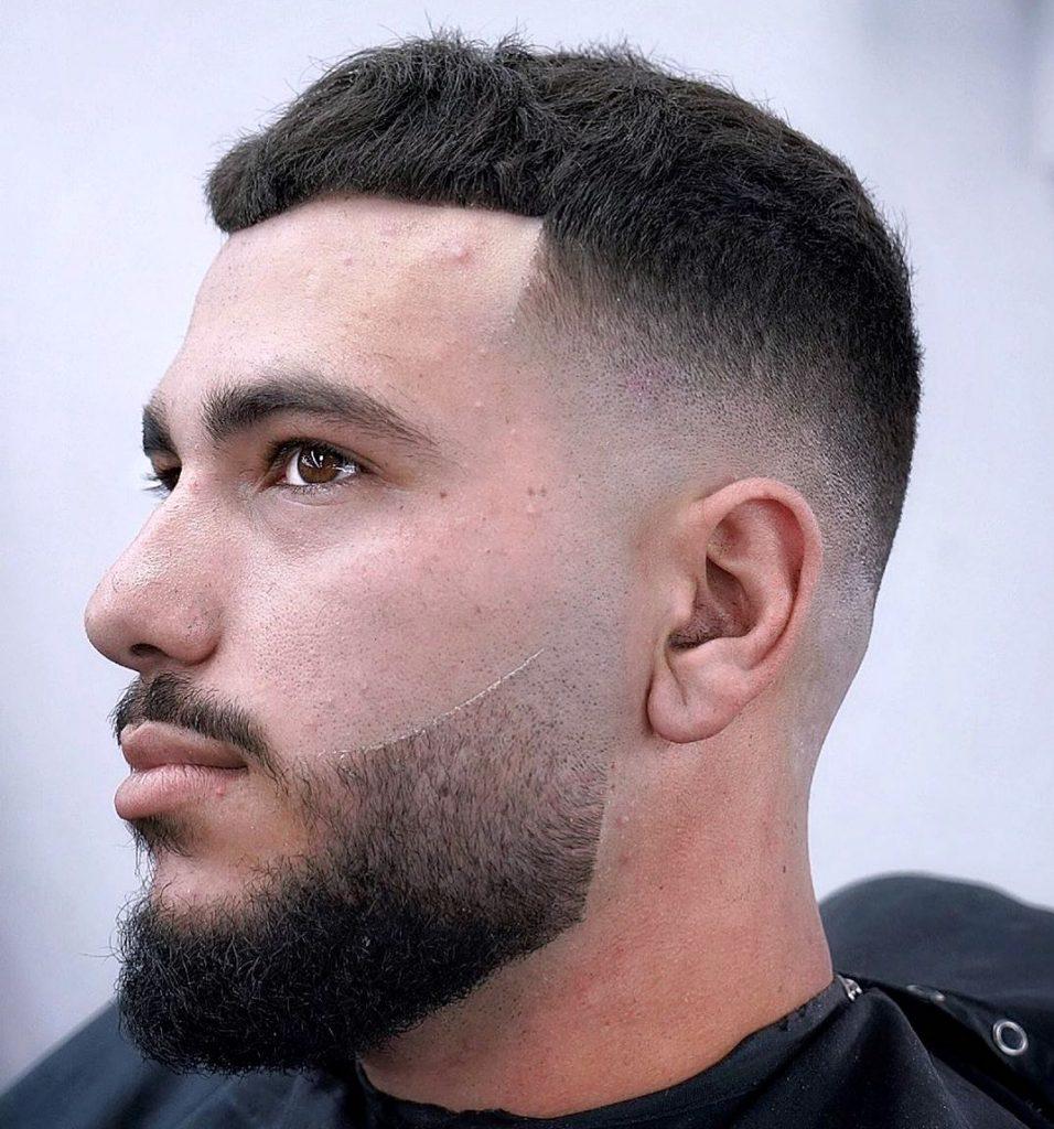 Mid skin fade haircut