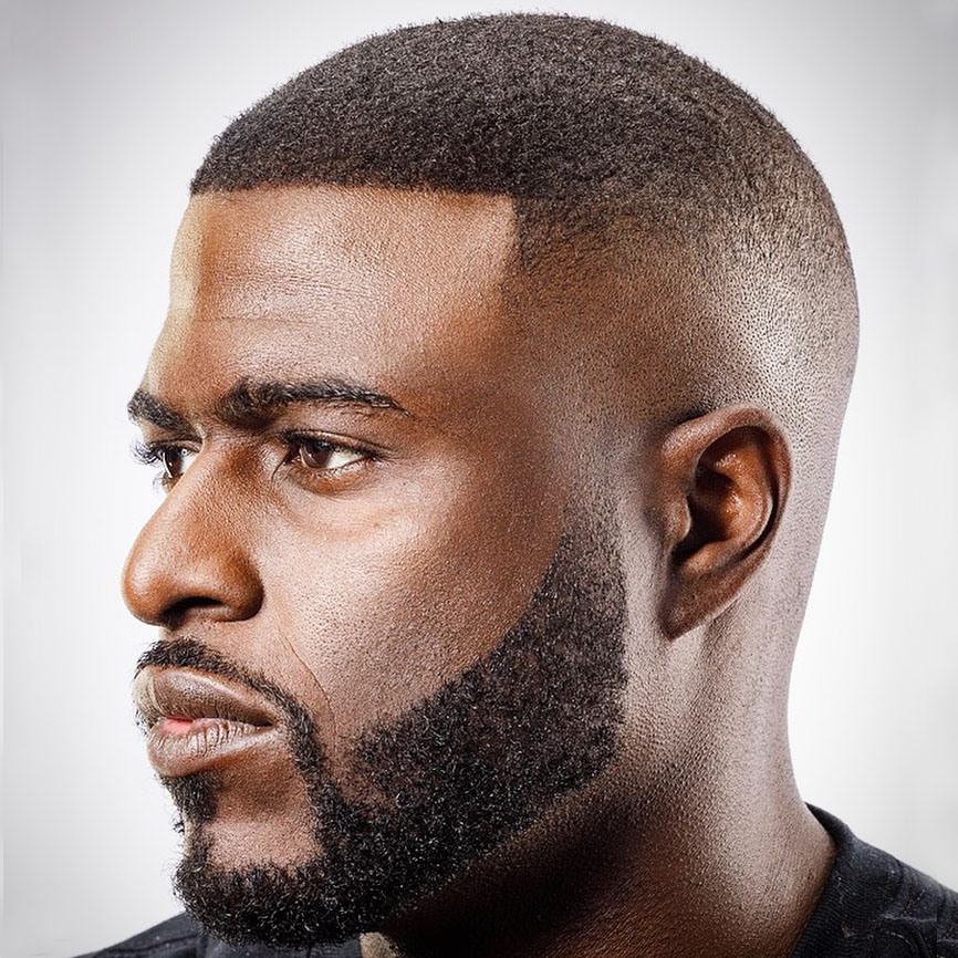 Bald fade with short hair for Black man