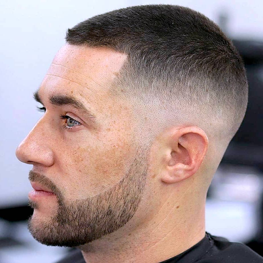 Skin fade haircut short on top