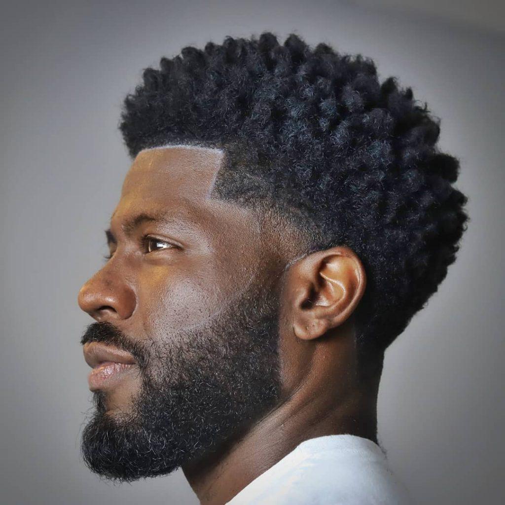 Taper fade haircut for Black men