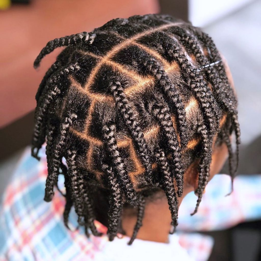Box braids for men
