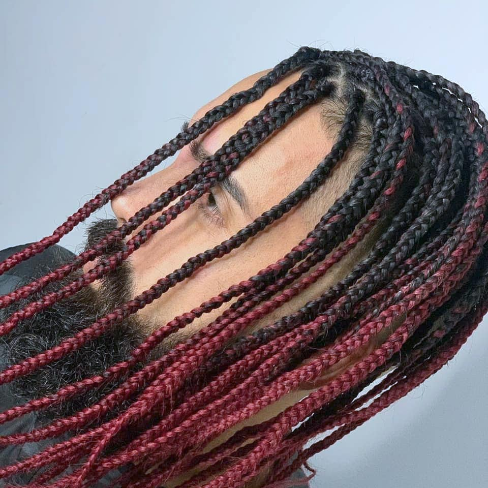 Box braids for white men