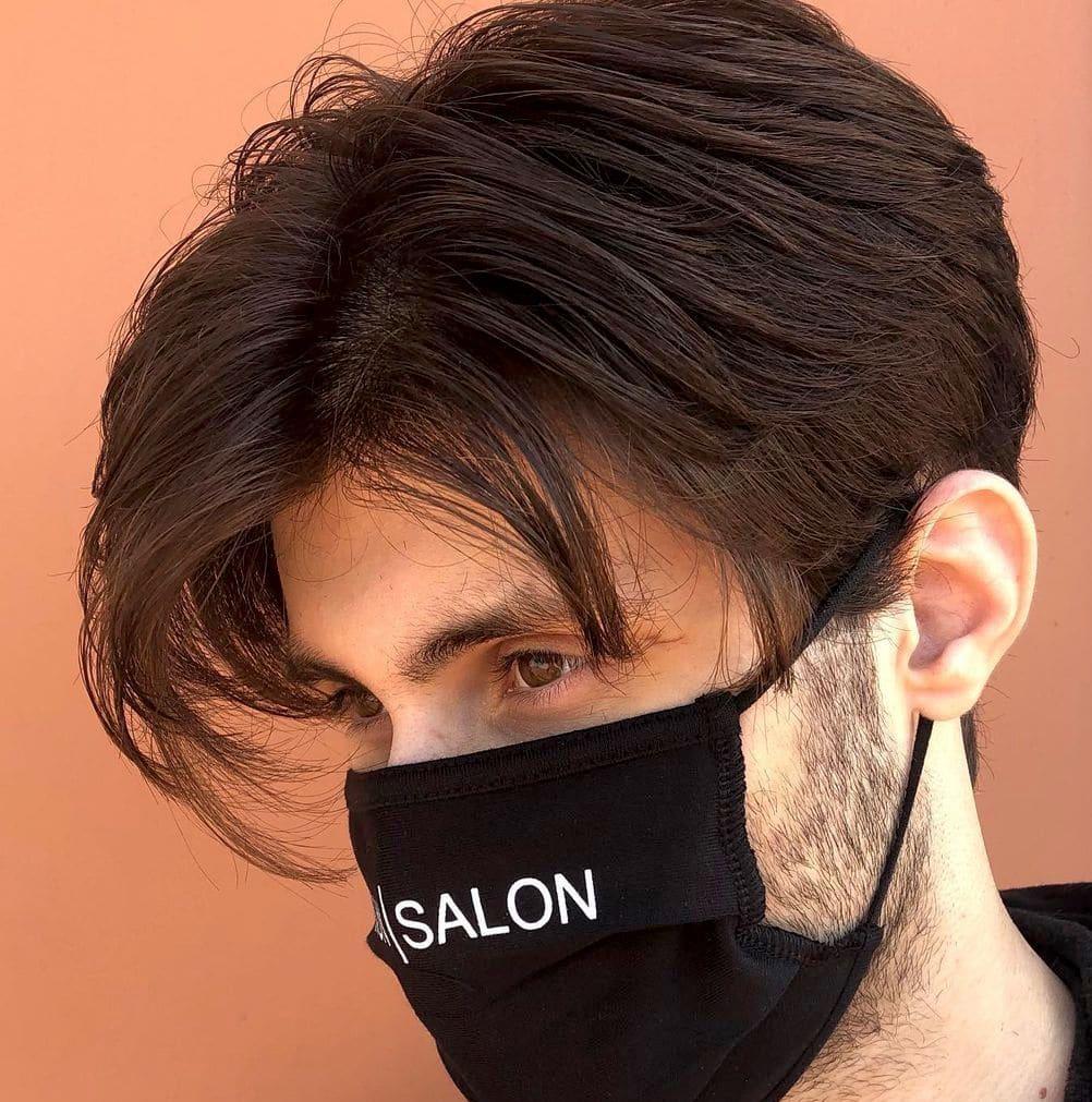 Curtained hair