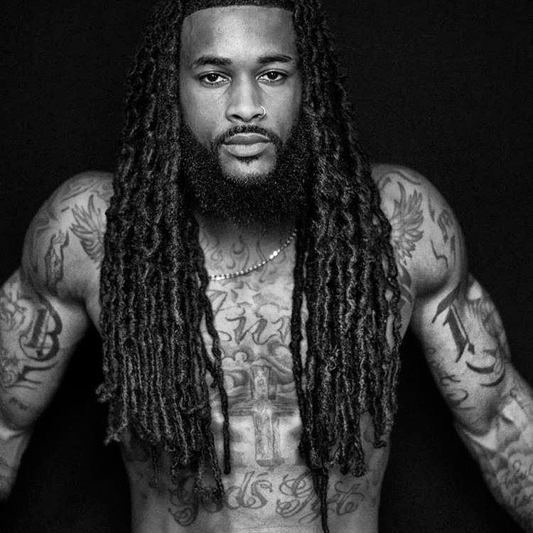 Dreadlocks long hair Black men