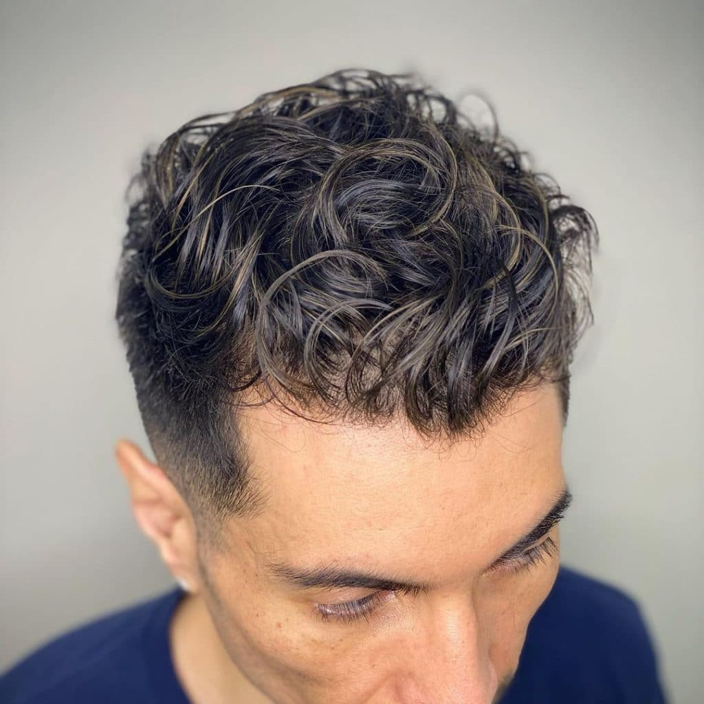 Loose perm for men