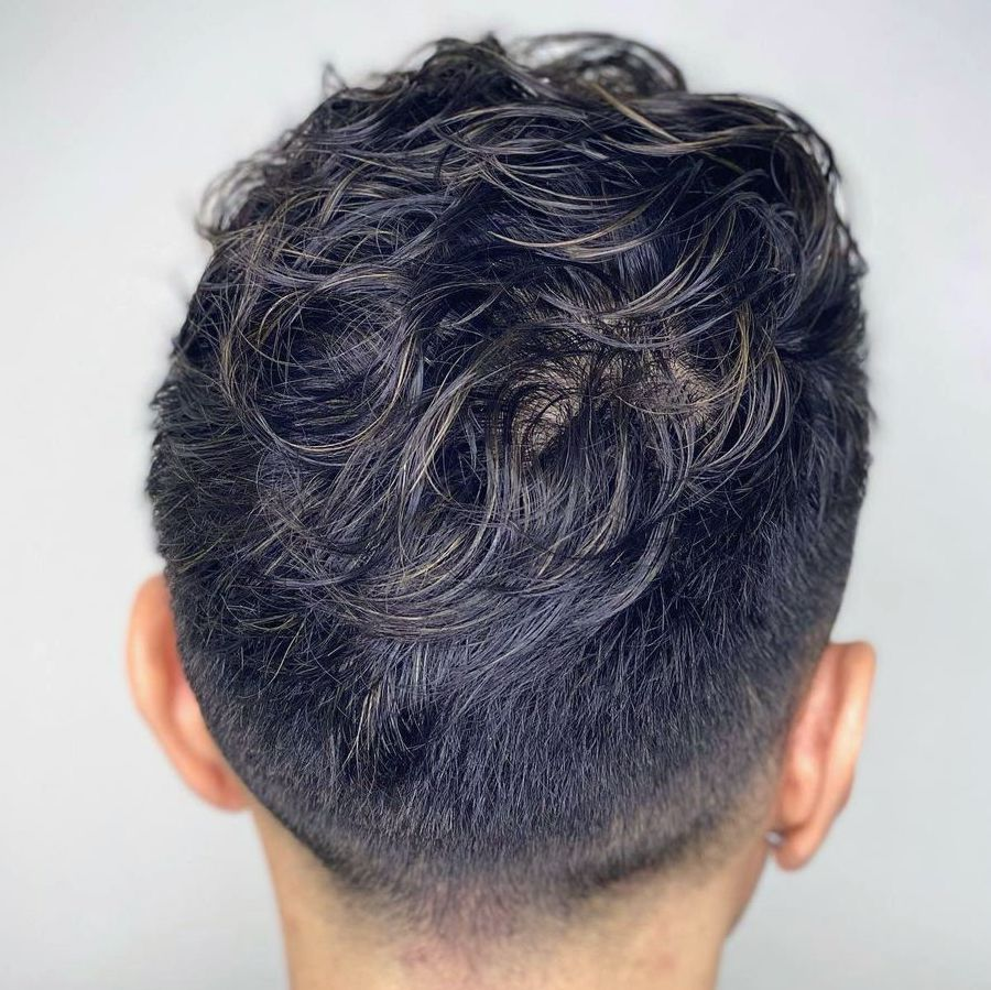 Perm for men with fade